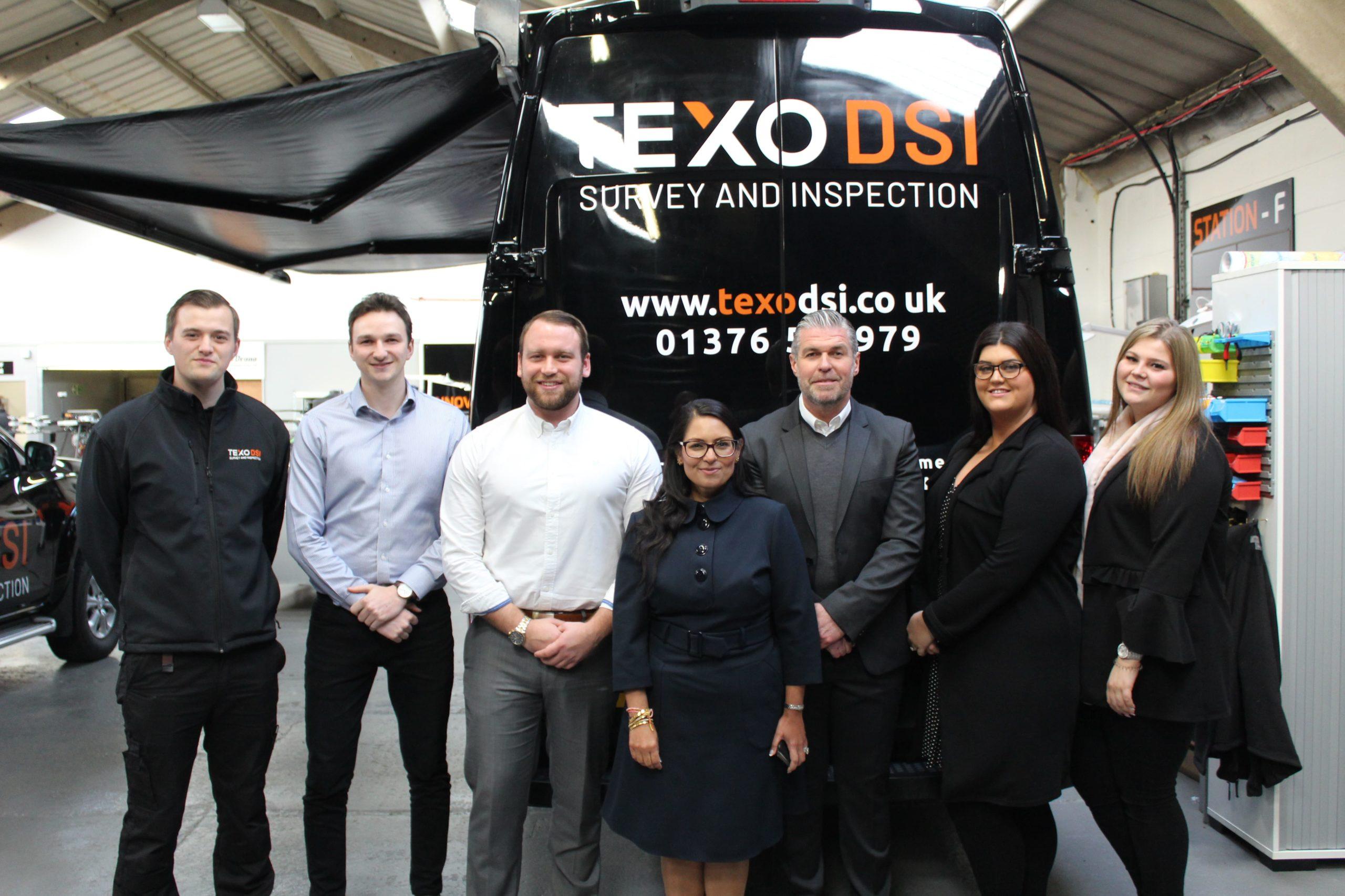 Home Secretary Priti Patel visits Texo DSI
